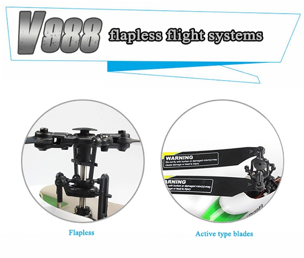 WLtoys V988 Power Star 2 4CH 6-Axis Gyro Flybarless