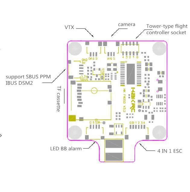 HAKRC BF3 2 Omnibus F4 FC 2-4S Integrated Betaflight OSD PDB Current
