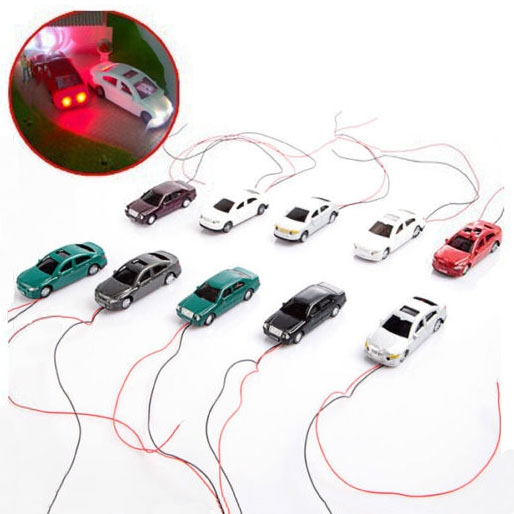LED 1:75 Scale Object-Oriented Light Cars Model Mould With Wires